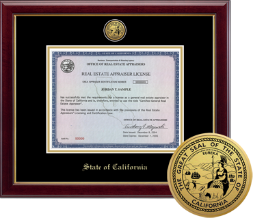 State of California Certificate Frame
