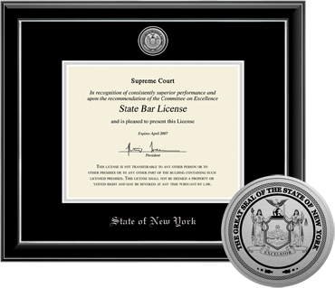 state seal frames desk accessories