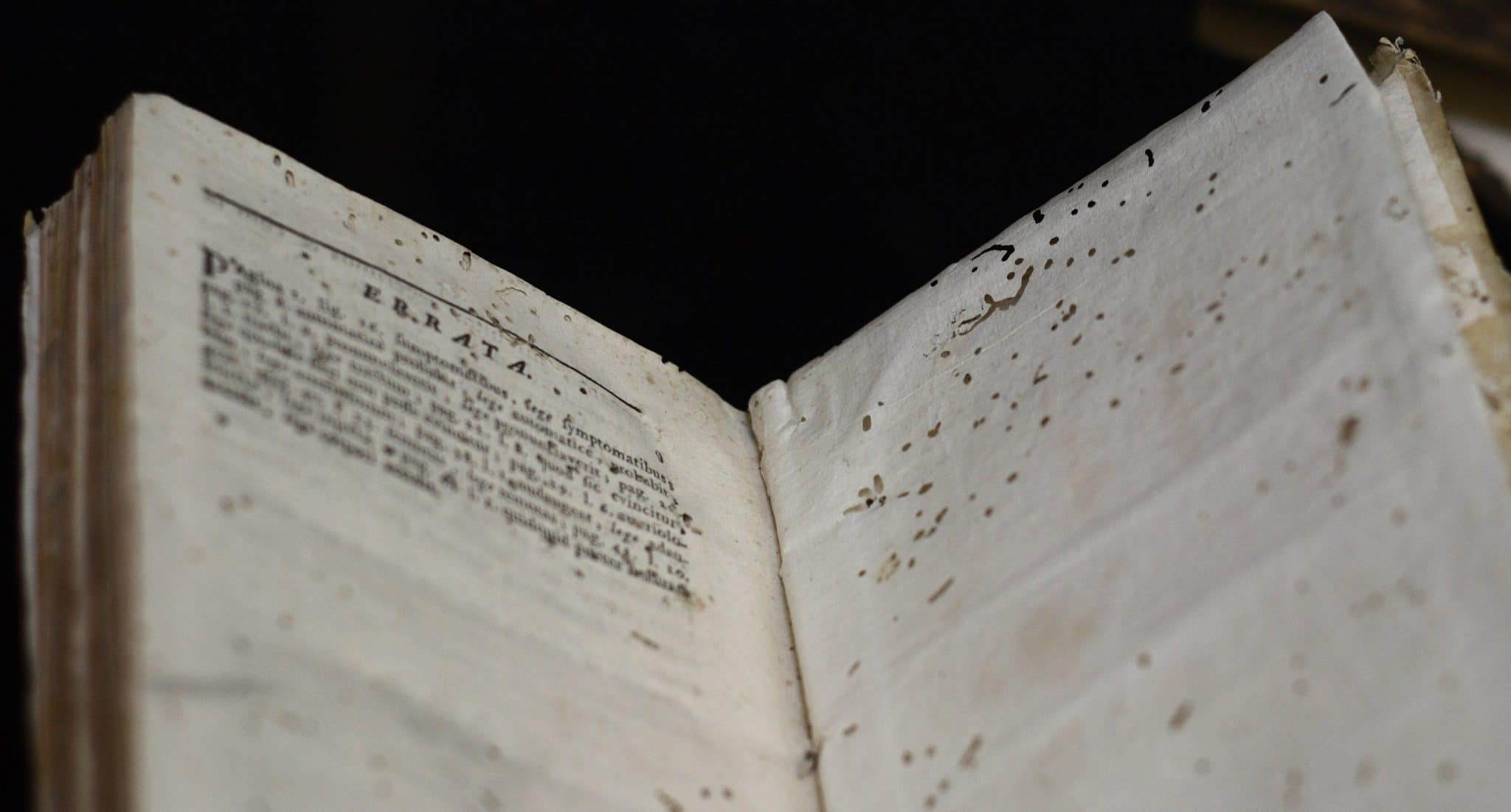 lice damage to a book