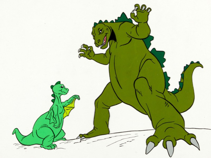 cartoon of dinosaurs