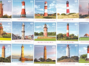 lighthouse postage stamps