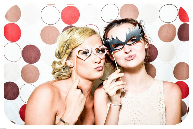 photo booth image at graduation party