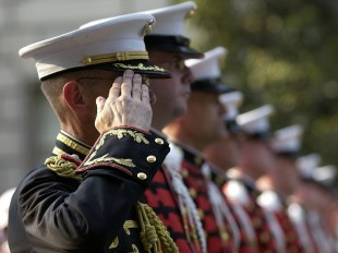 military soldier saluting
