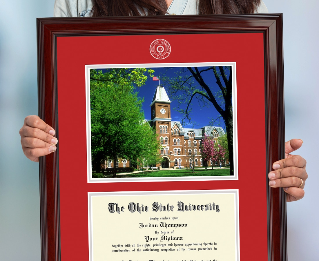 College Diploma Frames Featuring Campus Landmarks Chc Blog