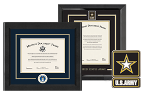 Military Certificate Frames