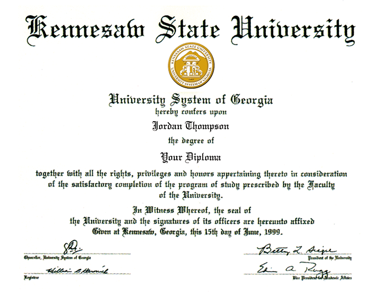 Kennesaw State University Dimensions Diploma Frame In Easton Item 280193 From Kennesaw State University