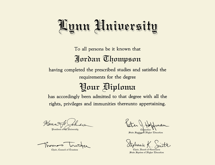 Lynn University diploma frame campus picture certificate college degree school frames framing gift graduation plaque document college holder