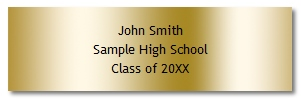Sample Engraved Plate