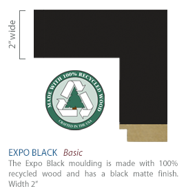 Expo Black Moulding - black satin finish 100% recycled