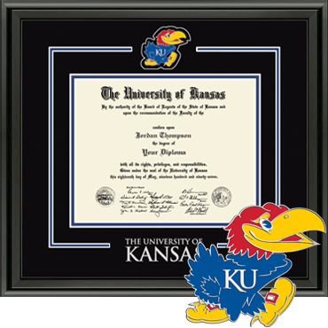 Spirit Medallion University of Kansas Diploma Frame