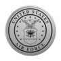 Air Force Engraved Medallion Silver Insignia