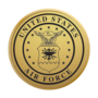 Air Force Engraved Medallion Gold Insignia