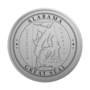 Alabama Engraved Medallion Silver Insignia