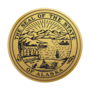 Alaska Engraved Medallion Gold Insignia