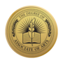 Associate of Arts Engraved Medallion Gold Insignia