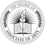 Associate of Arts Embossed Black Insignia