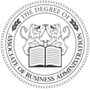 Associate of Business Administration Embossed Black Insignia