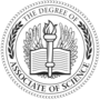 Associate of Science Embossed Black Insignia