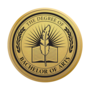 Bachelor of Arts Engraved Medallion Gold Insignia