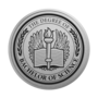 Bachelor of Science Engraved Medallion Silver Insignia