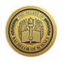 Bachelor of Science Engraved Medallion Gold Insignia