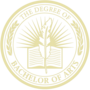 Bachelor of Arts Embossed Gold Insignia