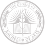 Bachelor of Arts Embossed Silver Insignia
