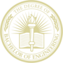 Bachelor of Engineering Embossed Gold Insignia