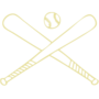 Baseball / Softball Embossed Gold Insignia