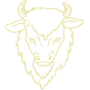 Buffalo Embossed Gold Insignia