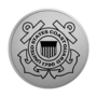 Coast Guard Engraved Medallion Silver Insignia