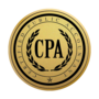 CPA Gold Engraved Medallion Insignia