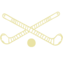 Field Hockey Embossed Gold Insignia