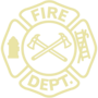 Fire Department Gold Embossed Seal Insignia