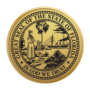 Florida Engraved Medallion Gold Insignia