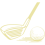 Golf Embossed Gold Insignia