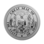 Idaho Engraved Medallion Silver Insignia