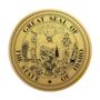 Idaho Engraved Medallion Gold Insignia