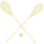 Lacrosse Embossed Gold Insignia