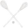 Lacrosse Embossed Silver Insignia