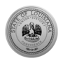 Louisiana Engraved Medallion Silver Insignia