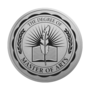 Master of Arts Engraved Medallion Silver Insignia