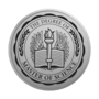 Master of Science Engraved Medallion Silver Insignia