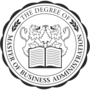 Master of Business Administration Embossed Black Insignia