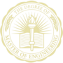 Master of Engineering Embossed Gold Insignia