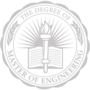 Master of Engineering Embossed Silver Insignia