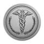 Medical Silver Engraved Medallion Insignia