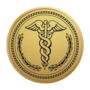 Medical Gold Engraved Medallion Insignia