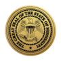 Mississippi Engraved Medallion Gold Insignia