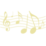 Music Embossed Gold Insignia